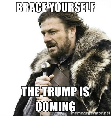 Brace yourself The trump is coming - Brace Yourself Winter is Coming. | Meme Generator