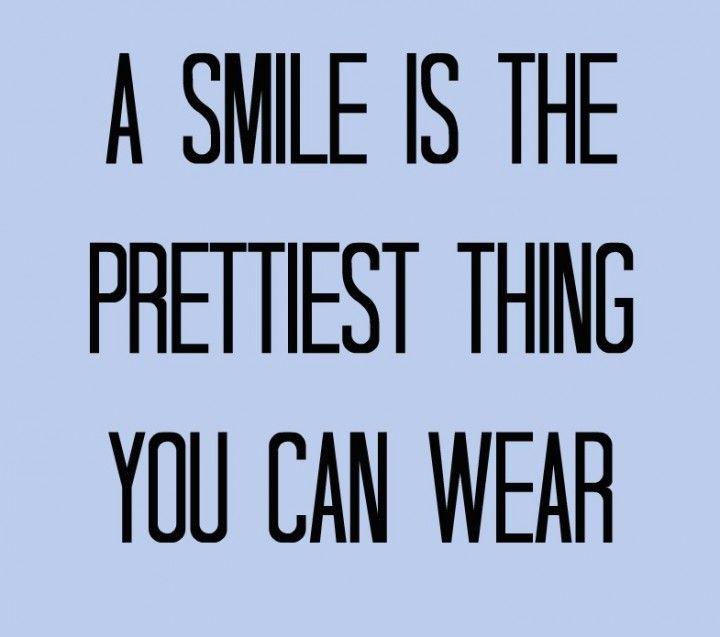 When was the last time you smiled at someone and they didnt smile back.....rarely!