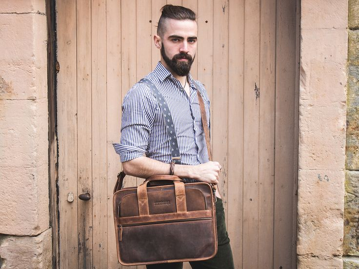 Our Citylander Leather Laptop Briefcase is perfect for students who have a laptop and various files to carry all at once. Take a look here https://www.scaramangashop.co.uk/item/4632/96/Leather-Work-Bags/Mens-Citylander-Leather-Laptop-Briefcase.html