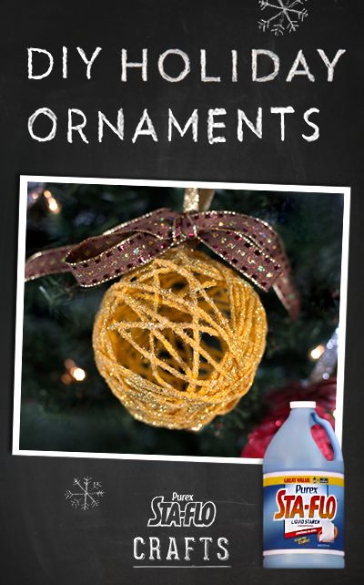 DIY crafts – how to create holiday ornaments using Purex Sta-Flo