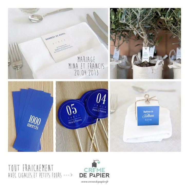Thème Design Blue / Made by Crème de Papier
