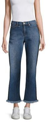 Escada Sport J100 Fringe Trim Ankle Denim Jeans