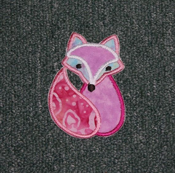 Applique Cute Fox Embroidery Design 2 Sizes By