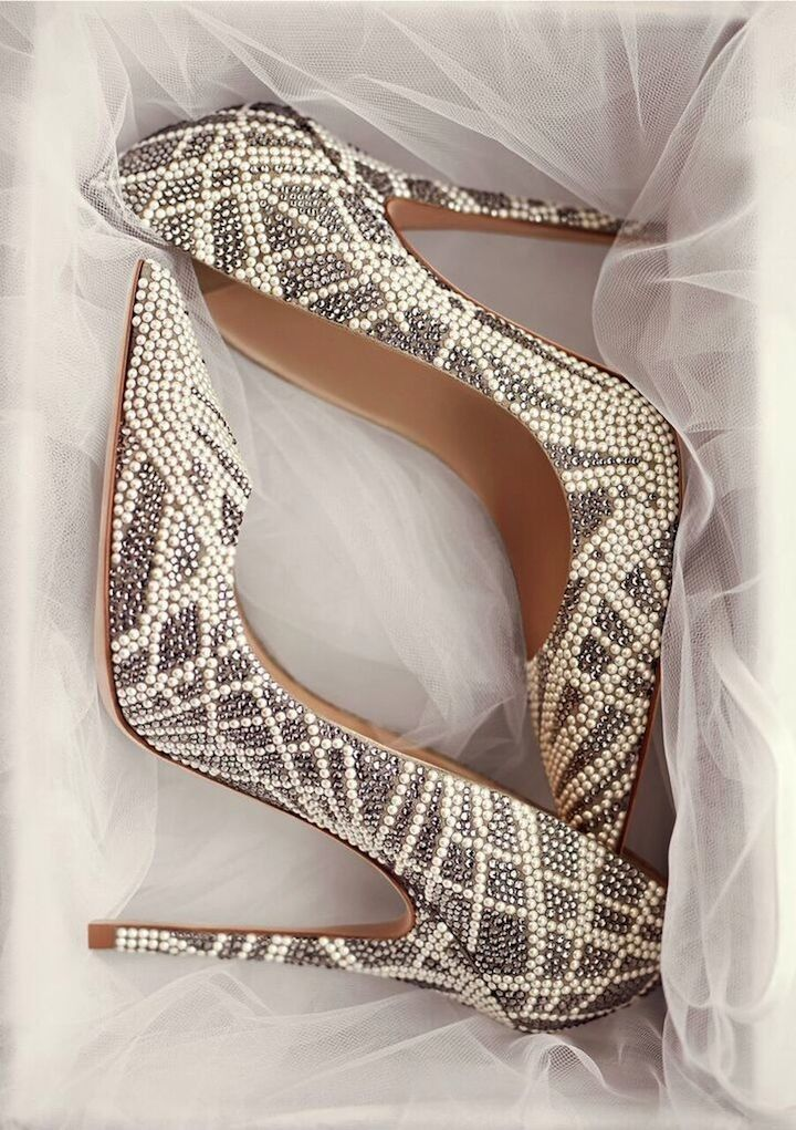 Jimmy Choo wedding shoes. Would you wear these on your special day?