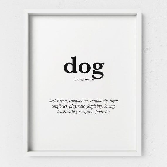 Dog Poster Wall Art Print Funny Dog Lover Gift Printable Etsy Dog Wall Art Poster Wall Art Dog Poster