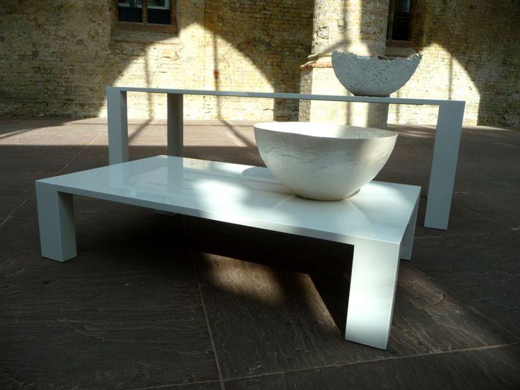 Exclusieve design tafel hoogglans wit