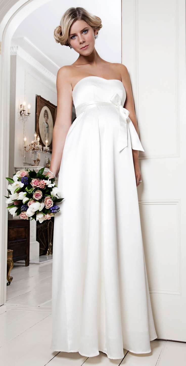 Alice Maternity Wedding Gown (Ivory) by Tiffany Rose. So cute!