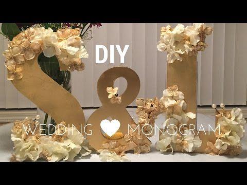 DIY Wedding Decorations Wooden Monogram Set