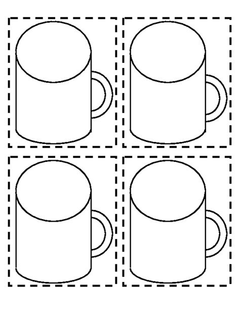 Mug printable - This could be used to make the hot chocolate card I found earlier. - Pam
