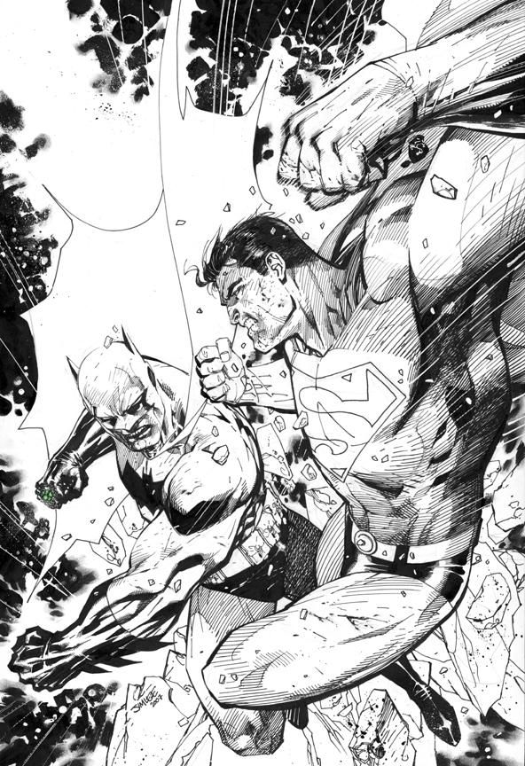 Batman vs Superman by Jim Lee