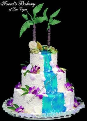 Tropical Cake: Cakes Ideas, Waterf Cakes, Cakes Decor, Dreams Tropical, Tropical Wedding Cakes, Tropical Wedding Theme, Beaches Wedding, Trees Cakes, Waterfalls Cakes