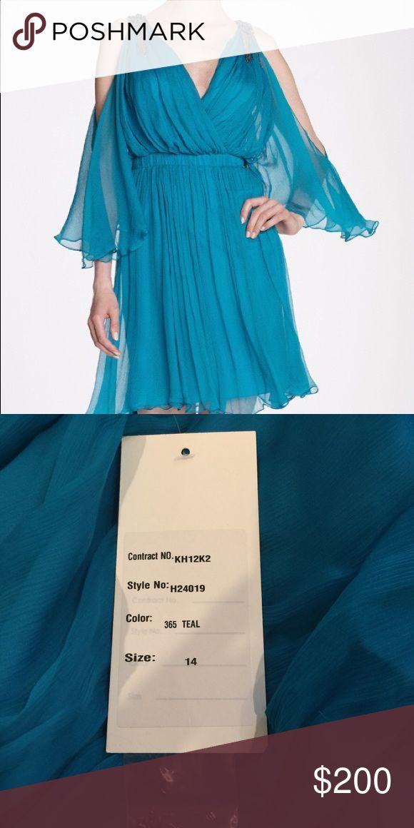 Teal Kathy Hilton Dress Teal Kathy Hilton Dress. Style H24019. Size 10 Kathy Hilton Dresses