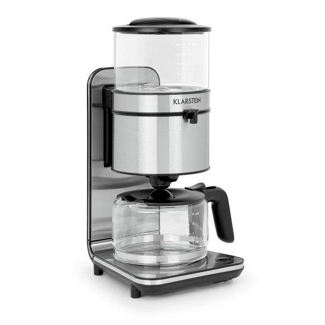 Kaffeemaschine mit Mahlwerk Kaffeeautomat 1,5 L Kaffee Edelstahl Kaffeekocher