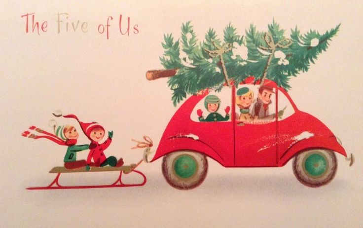 Vintage Christmas card   Naomi, this would make a cute gift tag from y'all.... @ Naomi
