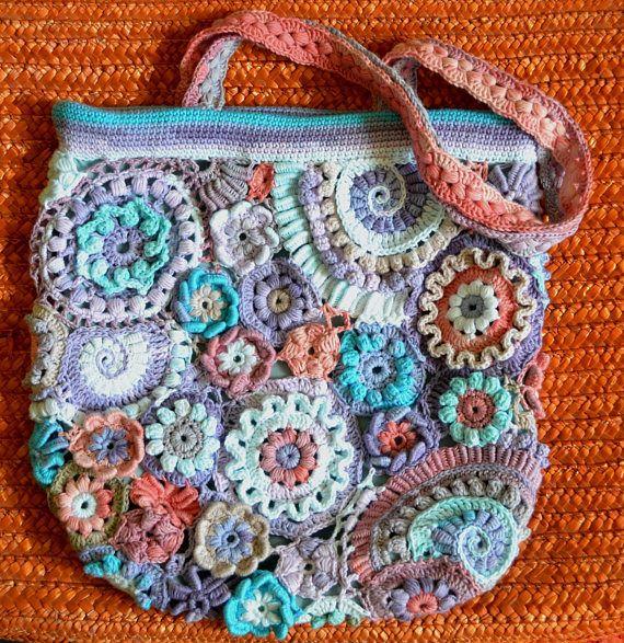 Women's dream! Freeform crochet bag - the best gift for her.