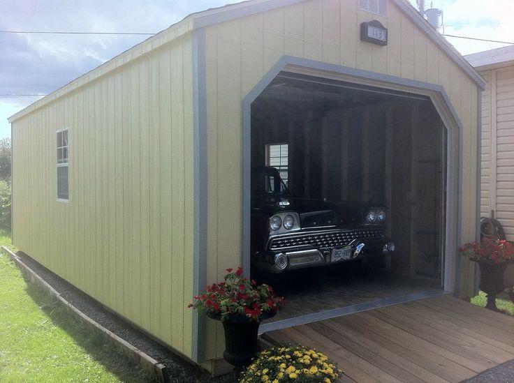 Portable Wood Garage : Best ideas about prefab garage sheds on pinterest