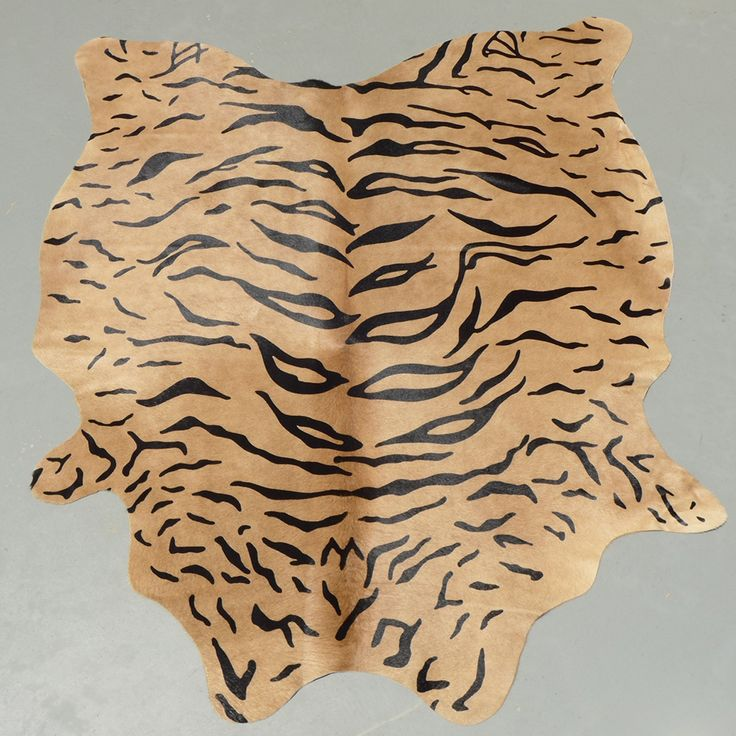 Acura Rugs Animal Hide White Black Zebra Area Rug: Stenciled Tiger Print Cowhide Rug Cowhidesinternational