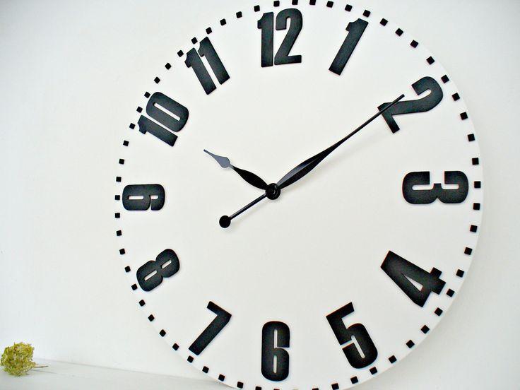 Large wall clocks 27,5 Inch / 70 cm Big Wall Clocks  White by DecoLavka on Etsy