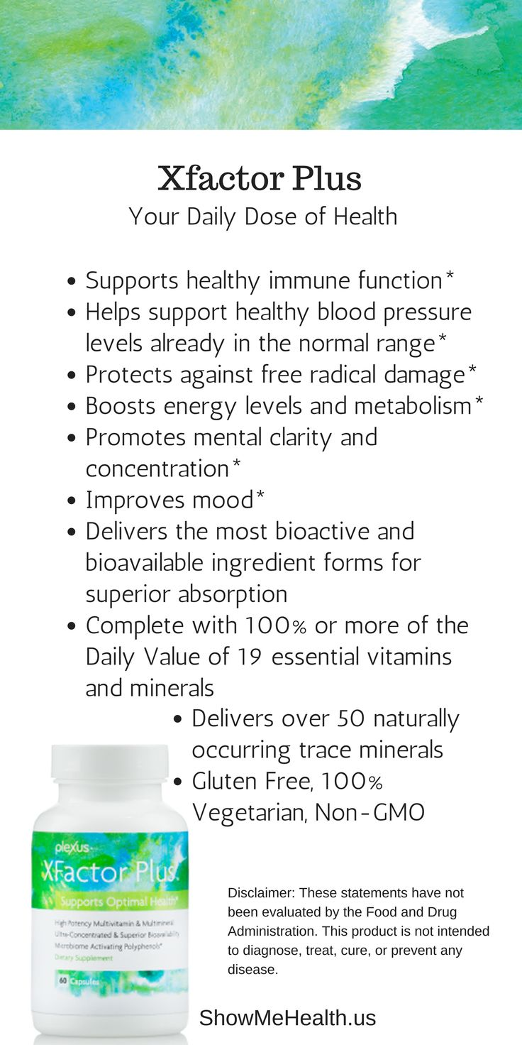 feel better. XFactor Plus does just that—with premium, bioavailable forms of key nutrients, a high-potency B vitamin complex, and a gut-protecting polyphenol blend. It's the multivitamin—redefined.◊* https://shopmyplexus.com/connieaunger/products/nutrition/plexus-xfactor-plus/index.html *These statements have not been evaluated by the Food and Drug Administration. This product is not intended to diagnose, treat, cure, or prevent any disease.