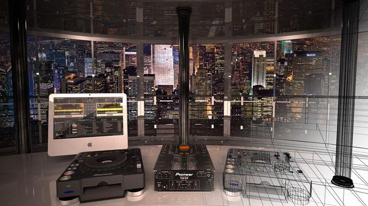 Criar diferentes ambientes de um hotel altamente sofisticado para ilustrar ambientes musicais distintos de uma radio online.   - Discothec