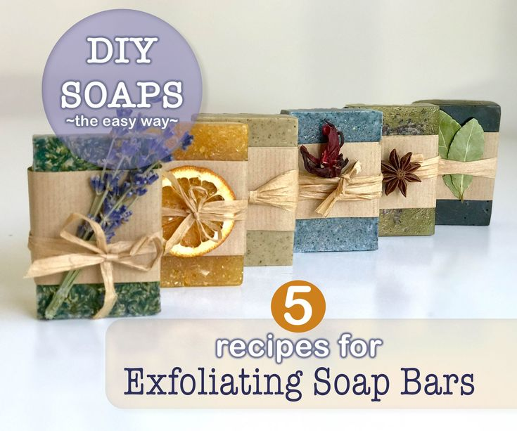 Peeling soap pieces   – soap