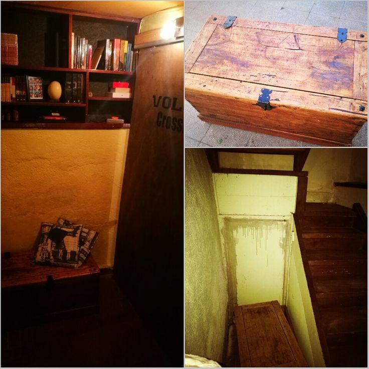 Wood proyect 10 Baúl restaurado en biblioteca de pasillo #diseñorustico