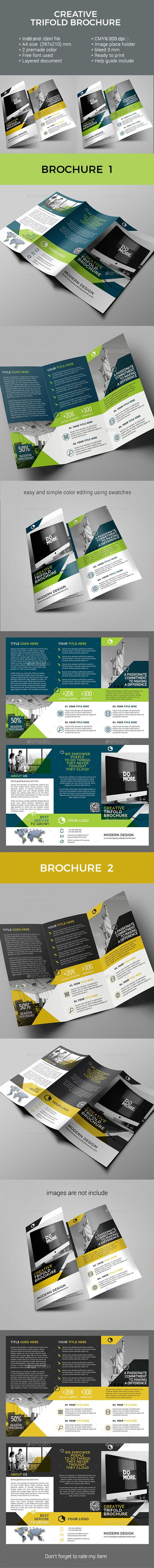 #Trifold #Brochure - Corporate Brochures Download here: https://graphicriver.net/item/trifold-brochure/19739446?ref=alena994
