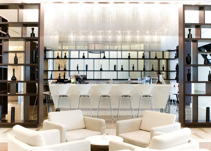 Modern home bar with white furniture