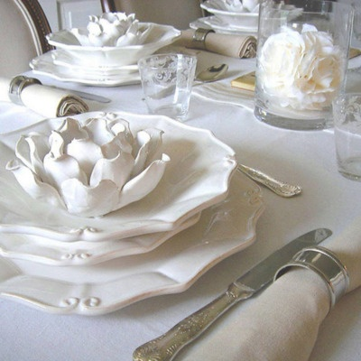 white tablescape, this would work!