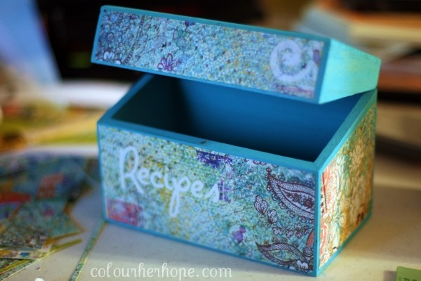Homemade recipe box!