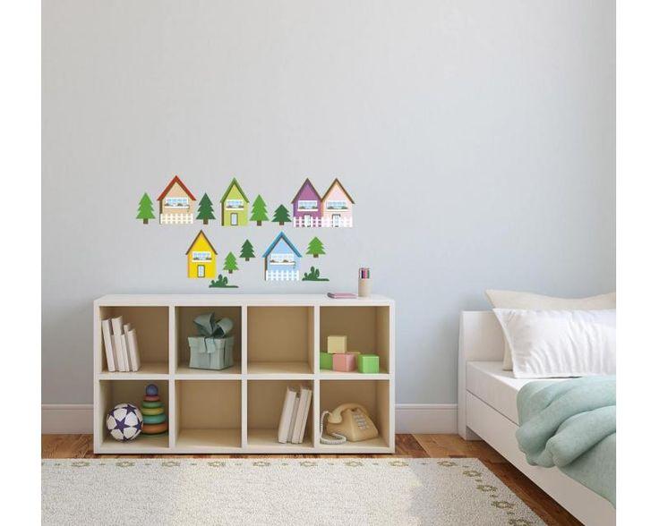 Domčeky ako nálepky na stenu | DIMEX