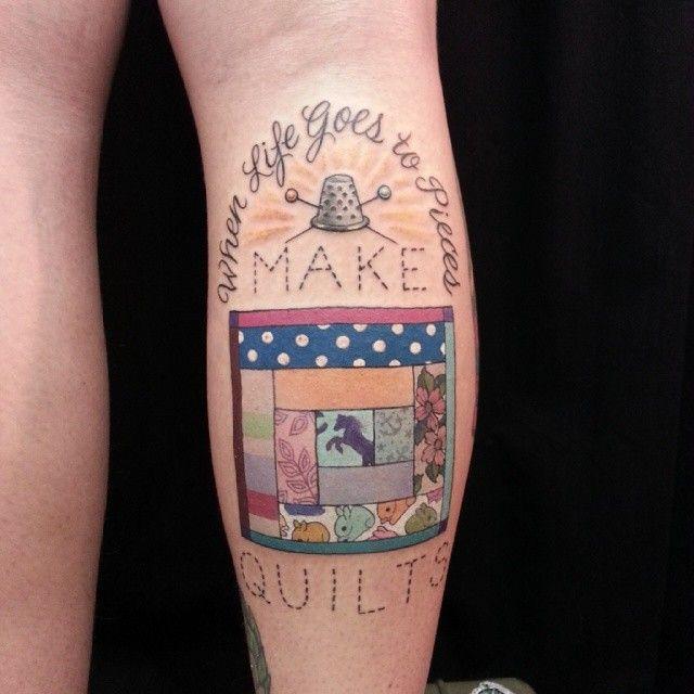 382 best Sewing Themed Tattoos images on Pinterest | Ideas, 3d ... : temporary quilt tattoos - Adamdwight.com