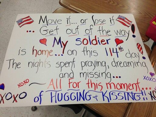 71 best military homecoming signs images on pinterest