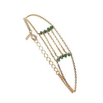 Caroline Najman  Bracelet Serena en plaqué or et émeraude  104.00 €