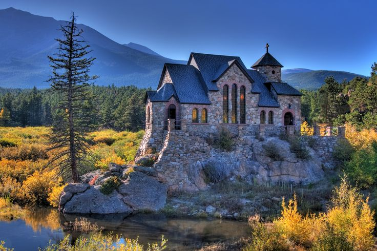 St Malo Church Southwest Of Estes Park Beautiful Place Churches Pinterest Beautiful