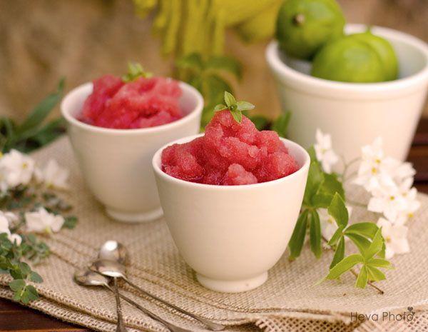 Granizado de sandía / Watermelon sorbet