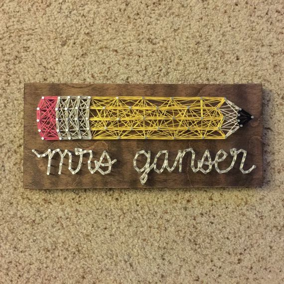 MADE TO ORDER Teacher Name string art by SeasonOfSeeking on Etsy