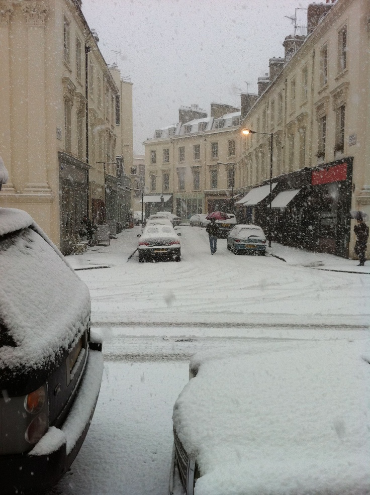 Maida Vale in the snow
