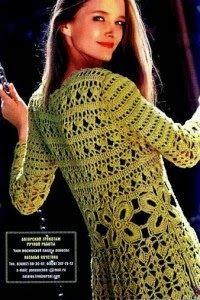 ABRIGO LARGO TEJIDO      NIVEL DE DIFICULTAD:   MATERIALES: 1.000 g de Algodón Sport matizado de Lanabel en tono blanco y verde. Crochet ...