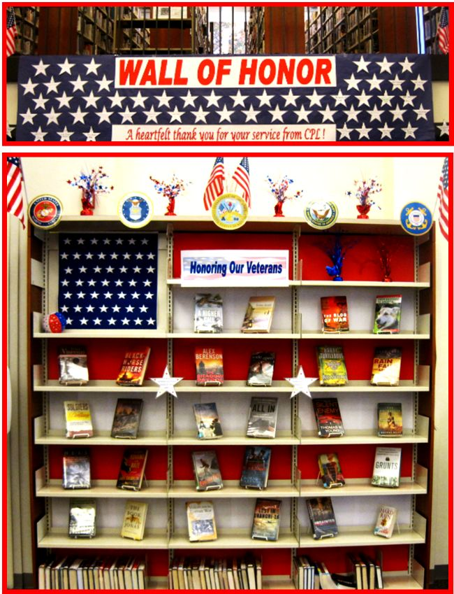 memorial day book display