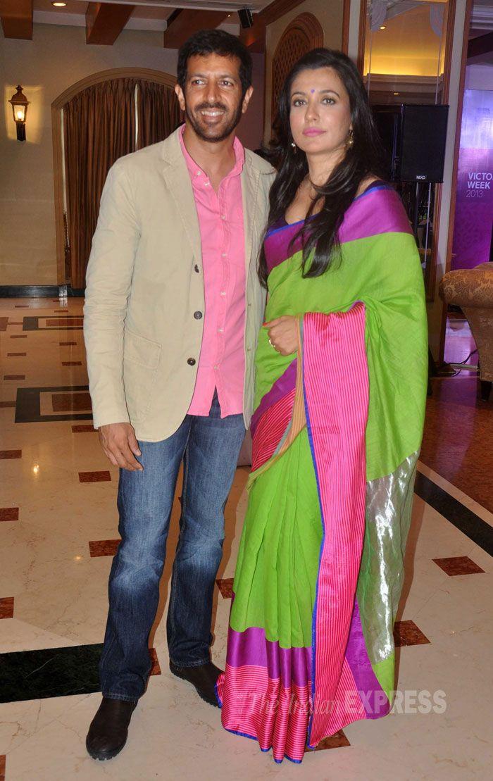 Director Kabir Khan all smiles as he poses along with his beautiful model-actress wife, Mini Mathur.