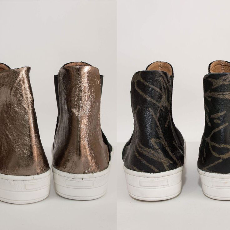 Leather booties. Feel the love by Rena Xenou