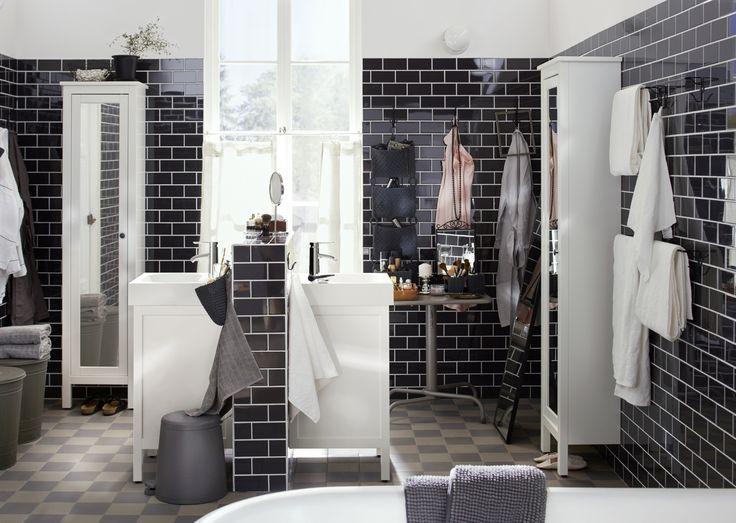 SNÄPP pedaalemmer | #IKEAcatalogus #nieuw #2017 #IKEA #IKEAnl #spiegel #kast #badkamer #wastafel #handdoek #wit #zwart