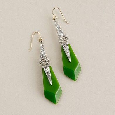 crystal appliqué earrings