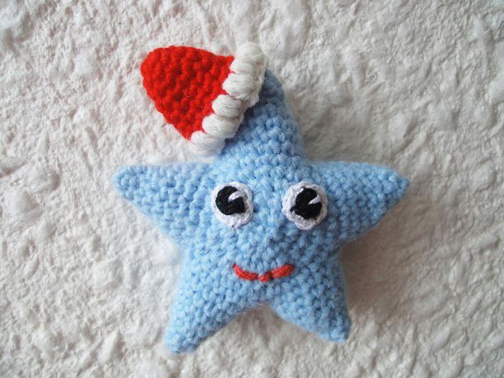 Новогодняя звезда Christmas starlet Crochet