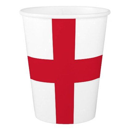 Patriotic paper cup with flag of England - paper gifts presents gift idea customize