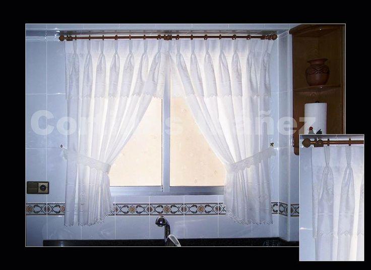 46 mejores im genes sobre cortinajes para ventanas en - Cortinas con visillo ...