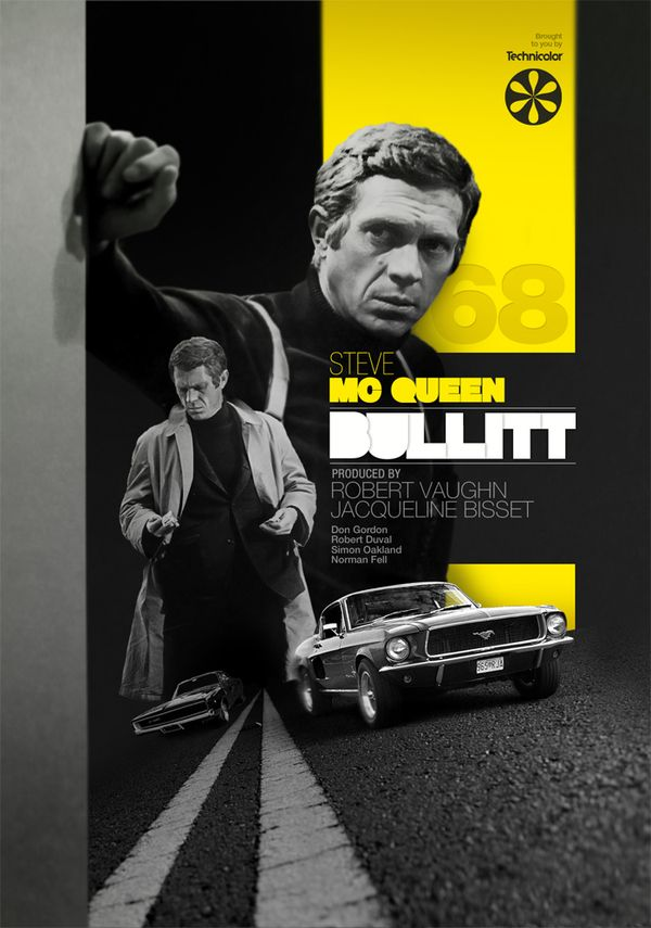 '68 Bullitt by Aldo Pulella, via Behance