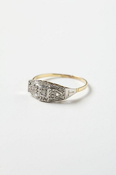 Art Deco Diamond Ring  #anthropologie