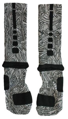 Sock Swagger | Custom Nike Elite Socks, Apparel, Nike Air Jordans, and Accessories - Custom Nike Elite Crew Basketball Socks - Aztec Edition